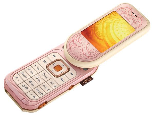 Nokia 7373 с аккумуляторной крышкой «под кожу» с тиснением. Какая девочка не мечтала о таком?