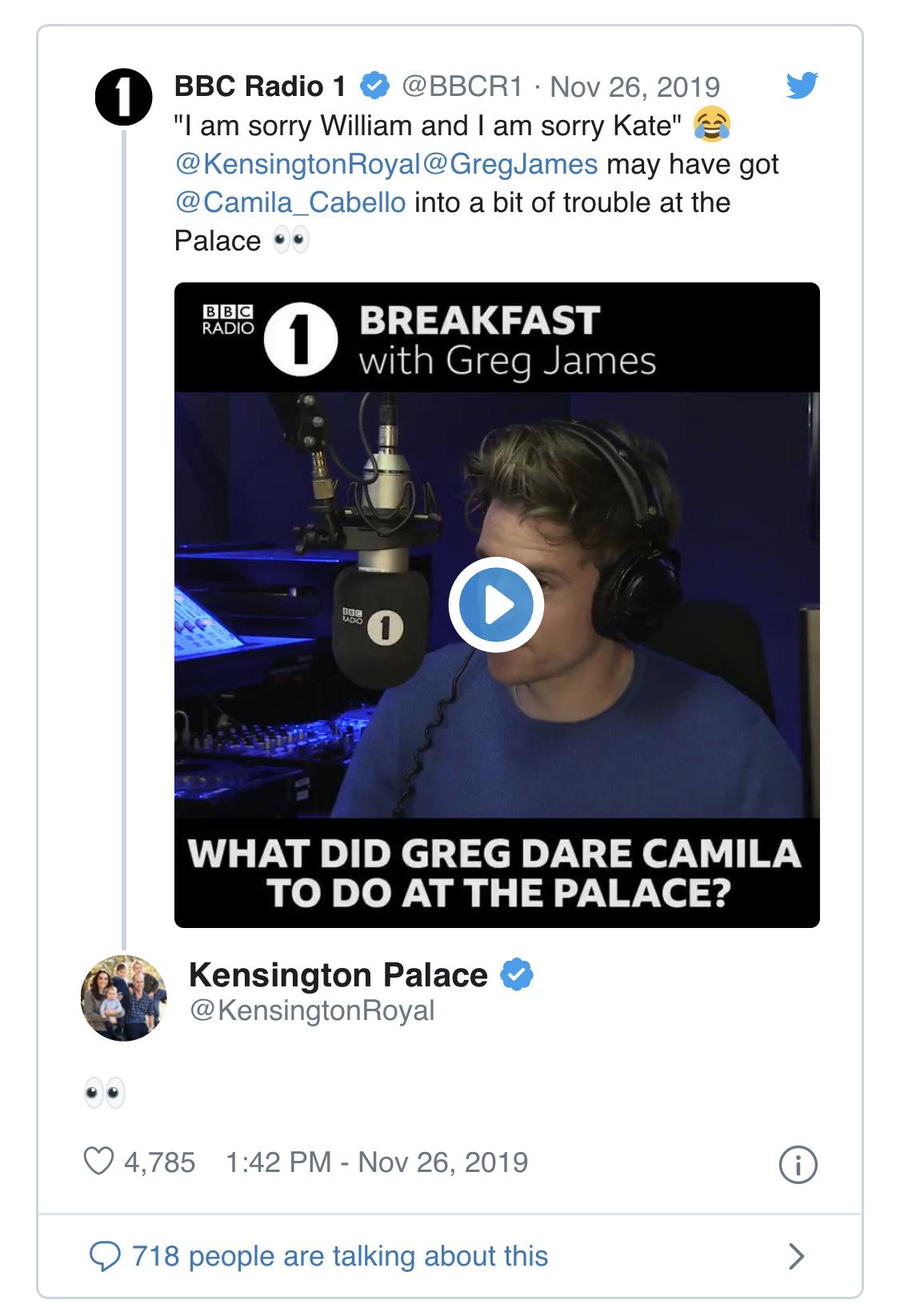 Новый скандал? Почему Камила Кабелло извиняется перед принцем Уильямом и Кейт Миддлтон?