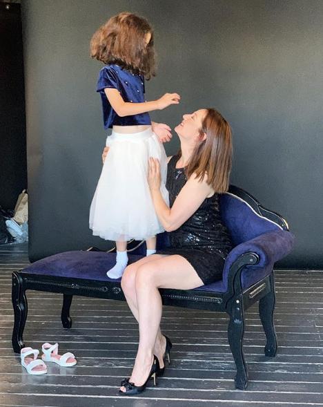 Валентина Рубцова с дочкой