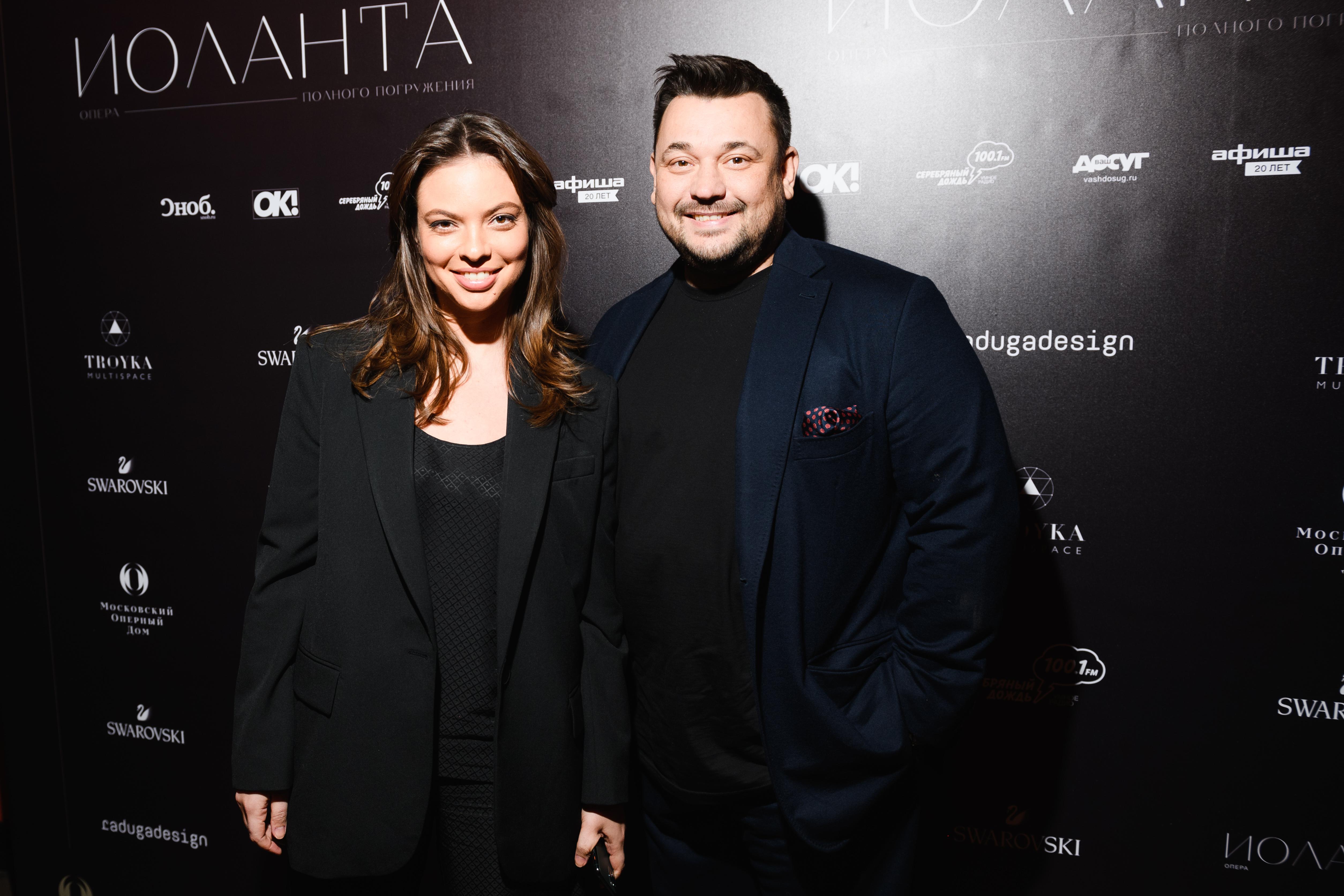 Инга Меладзе, Яна Кушнер и Ксения Суркова на премьере оперы «Иоланта»