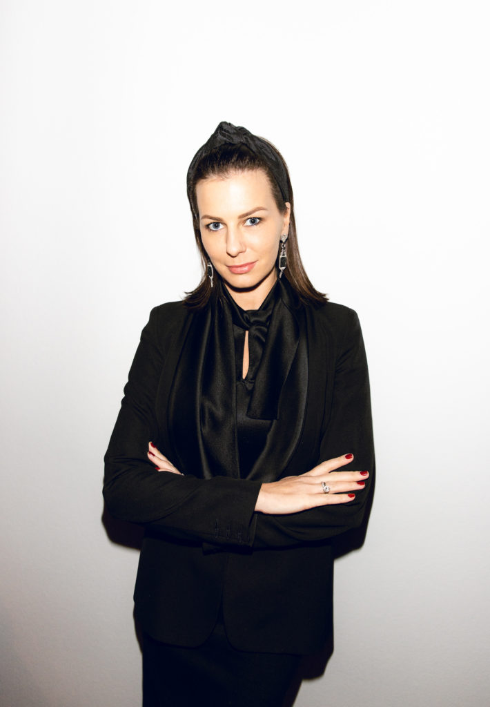 Ян Гэ, Полина Аскери и Дина Немцова на презентации Bang & Olufsen