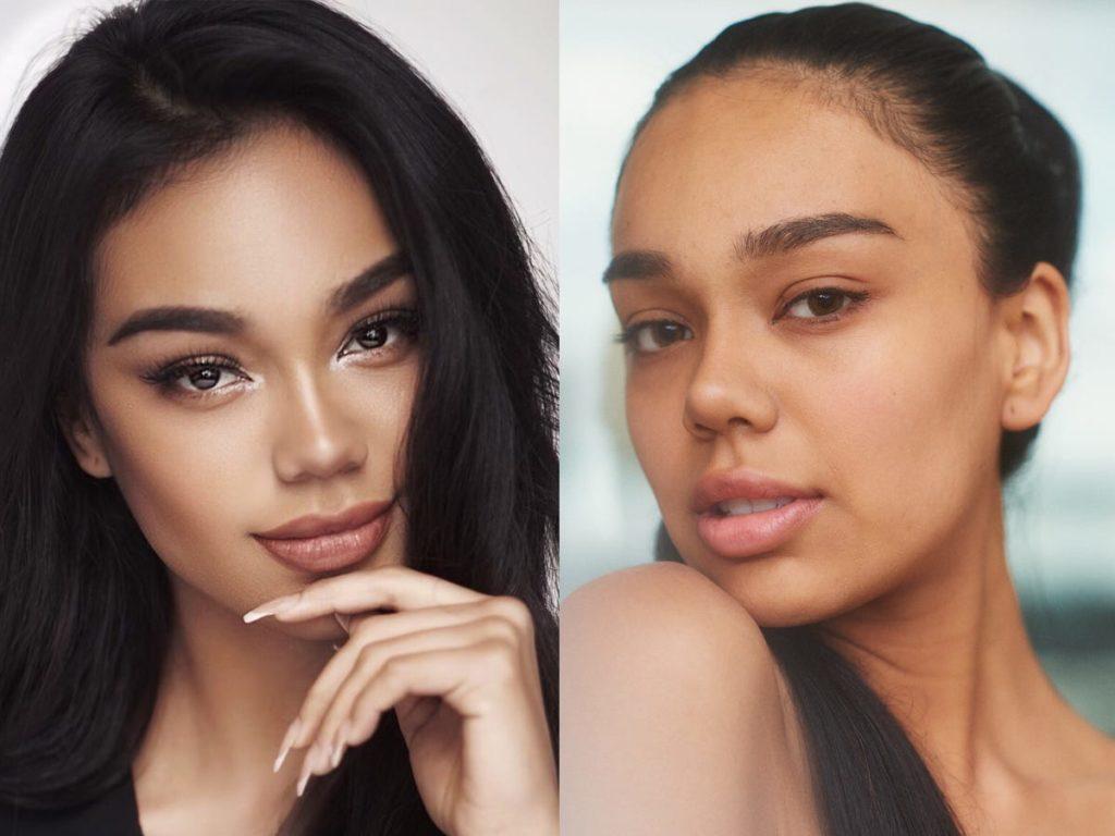 Фото дня: участницы конкурса «Мисс Вселенная 2019» с макияжем и без него