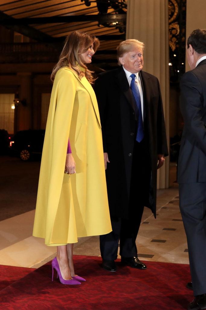 Все в сборе! Елизавета II, Кейт Миддлтон и чета Трампов на приеме в Букингемском дворце