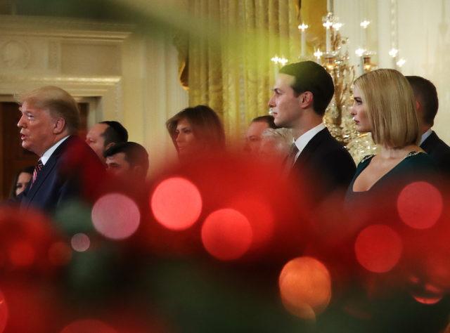 Мелания Трамп на приеме в Белом доме