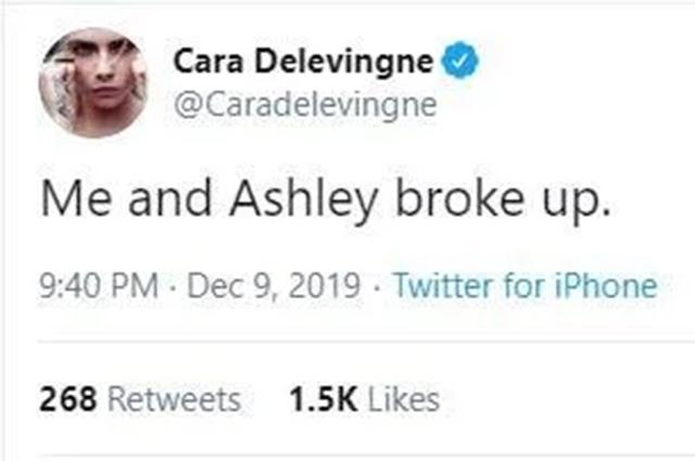 Кара Делевинь рассталась с Эшли Бенсон. И тут же взяла свои слова назад