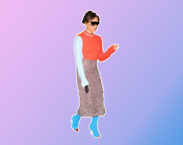 Як носити яскраві вбрання: вчимося у Вікторії Бекхем