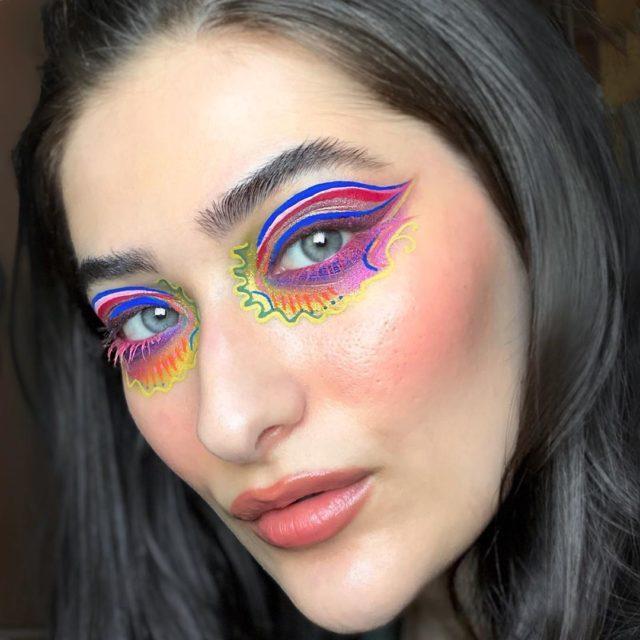 Идея для макияжа: аккаунт в Instagram с мультяшным мейком6
