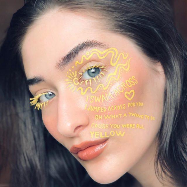 Идея для макияжа: аккаунт в Instagram с мультяшным мейком9