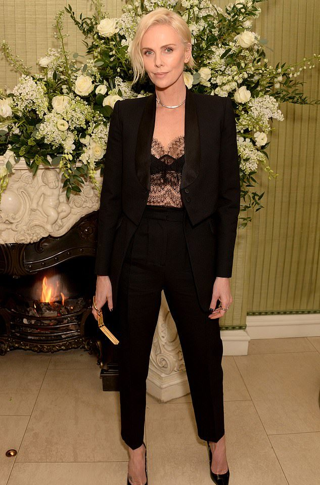 Шарлиз Терон на вечеринке премии BAFTA, 2020
