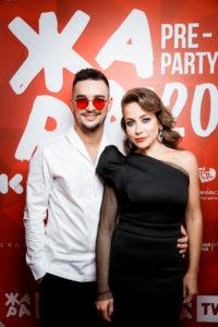 Юлия Барановская, Эмин Агаларов и Нюша на pre-party фестиваля «ЖАРА»
