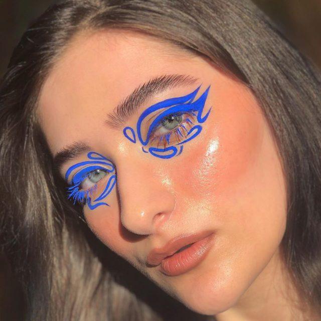 Идея для макияжа: аккаунт в Instagram с мультяшным мейком1