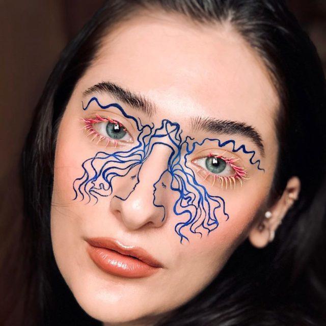 Идея для макияжа: аккаунт в Instagram с мультяшным мейком2