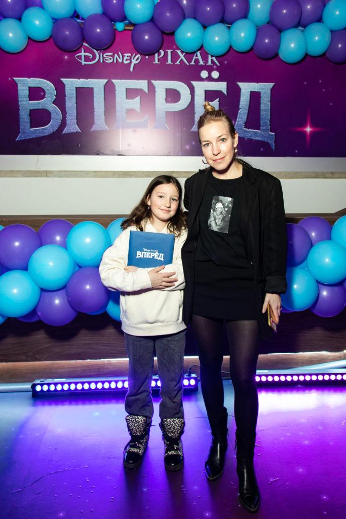 Мария Шалаева с дочкой