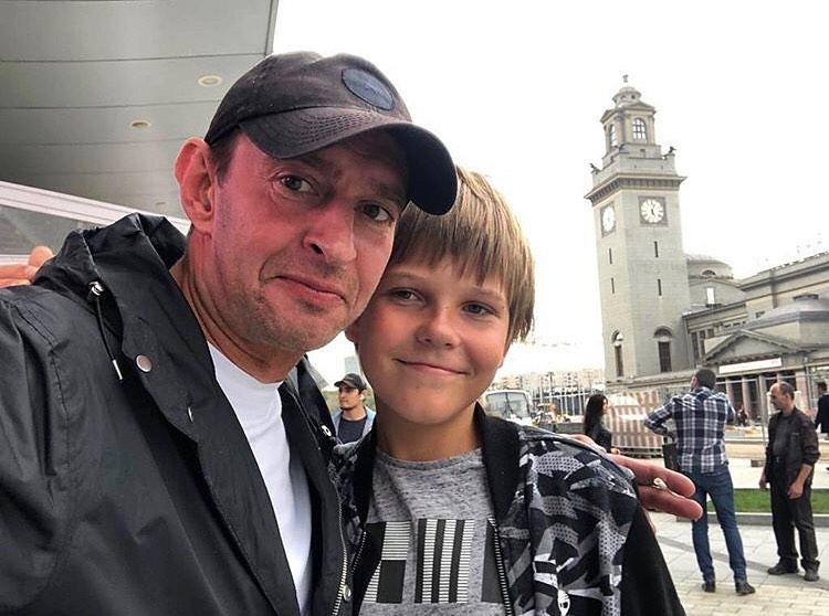 С сыном Ваней