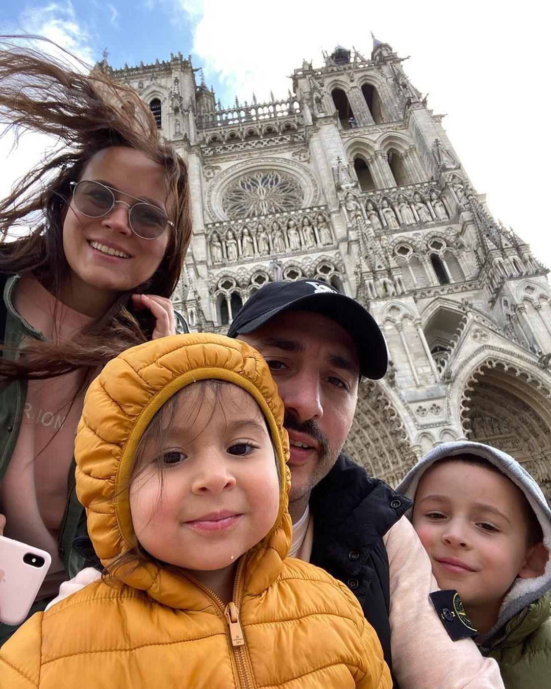 Анна и Леван Горозия с детьми