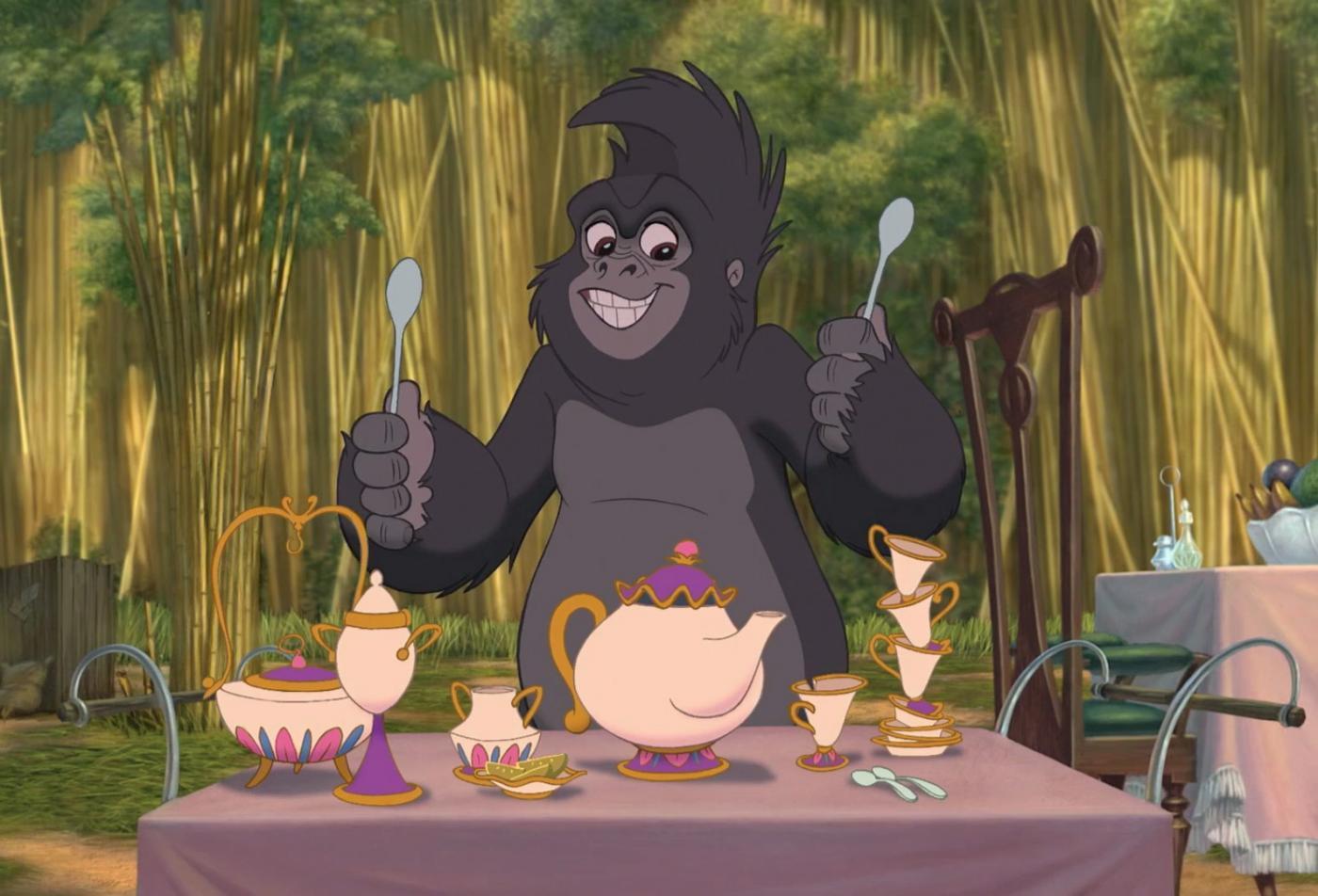 Сервиз Миссис Поттс из «Красавицы и Чудовища» в «Тарзане»