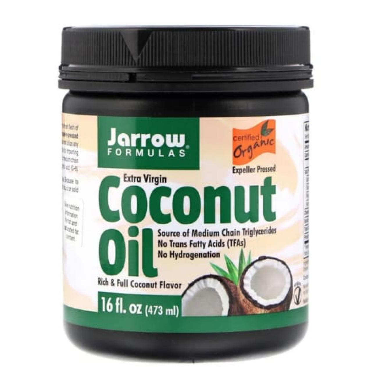 Jarrow Formulas, нерафинированное кокосовое масло. Это волшебное масло – настоящая палочка-выручалочка. Его можно употреблять в пищу, жарить на нем сырники (мы проверяли, так вкуснее!). А еще его можно использовать в качестве маски для волос, мазаться вместо крема и использовать в качестве профилактики растяжек при беременности