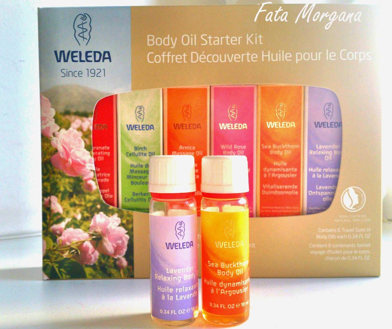 Weleda, базовый набор масел для красоты лица и тела. Очень нежное масло, которое питает кожу на весь день