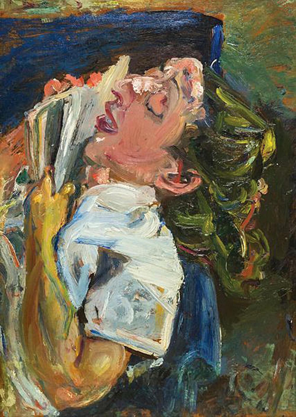 Хаим Сутин «Уснувшая читательница, Мадлен Кастен»