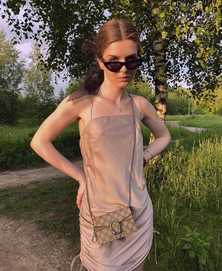 Дочь Тины Канделаки Мелания Кондрахина: сумка Gucci Dionysus GGSupreme, от 110 000 руб.