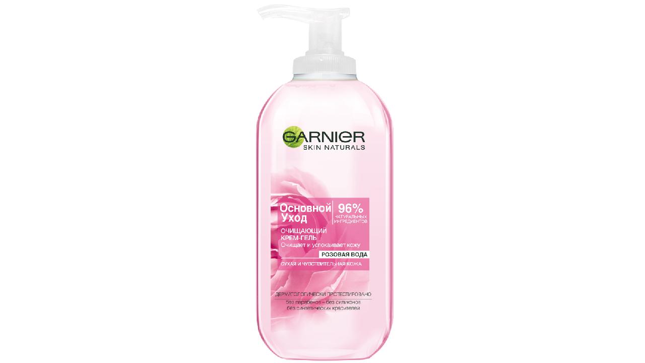 Очищающий крем-гель «Розовая вода» Garnier