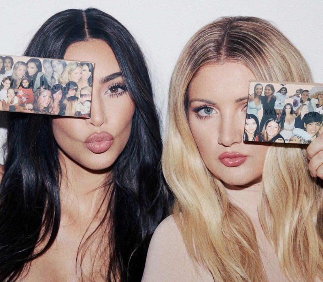Бьюти-коллаборация: Ким Кардашьян запустила линейку косметики с подругой детства