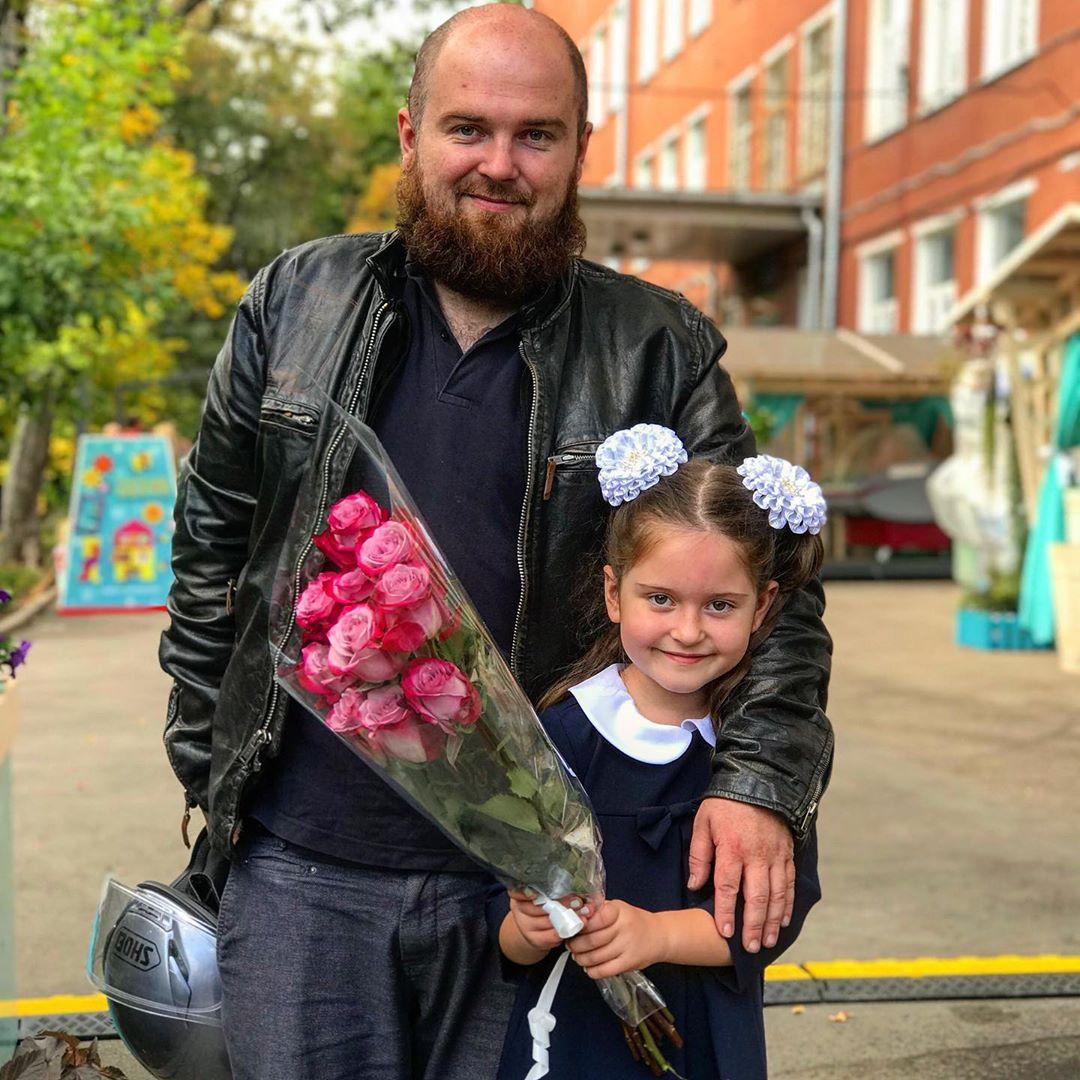С дочерью Софьей от Анны Рудневой. Instagram: @ichkiffnichtmehr