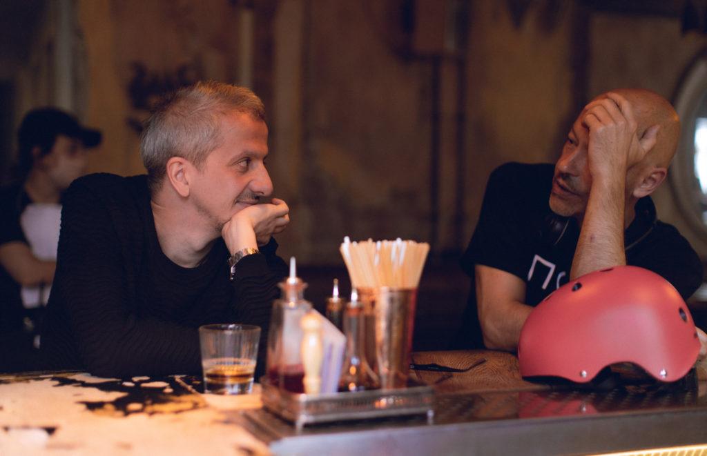 Константин Богомолов и Федор Бондарчук на съемках сериала «Псих»