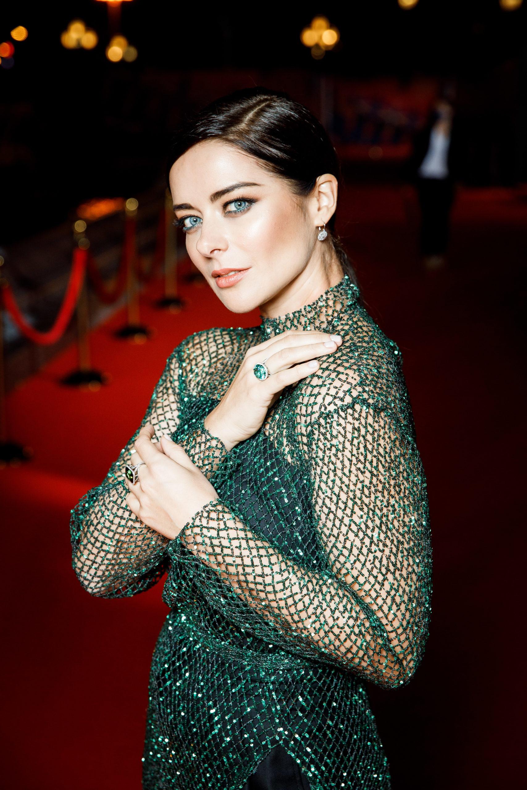 Марина Александрова в украшениях Tiffany&Co