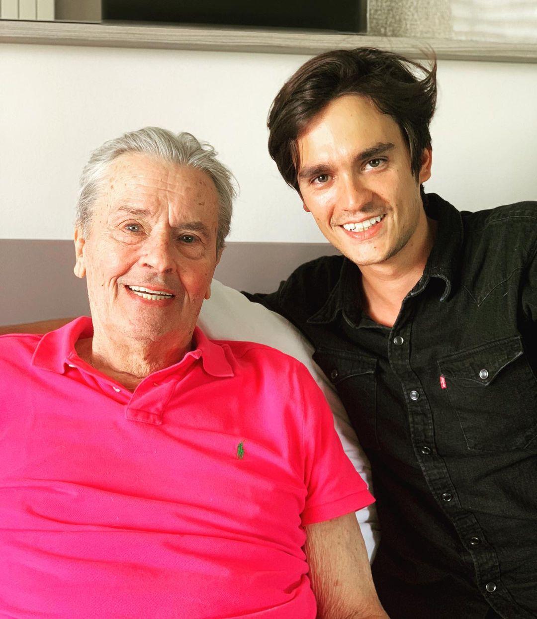 Ален Делон с сыном Аланом Фабиеном Делоном (Фото: @alainfabiendelon)