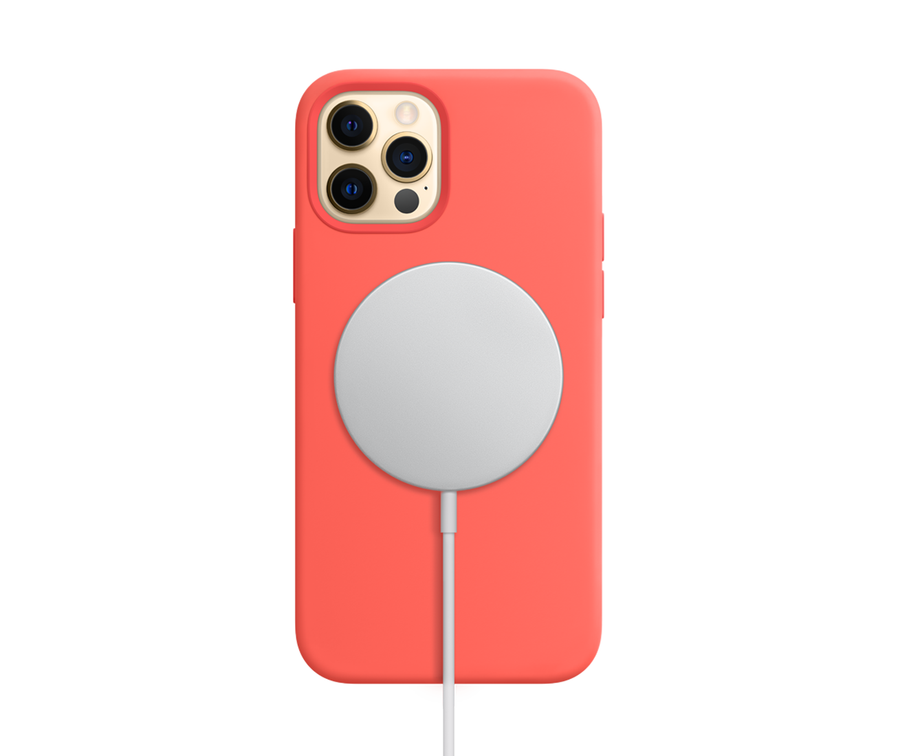 iPhone 12 Pro Silicone Case_coral_MagSafe Charger