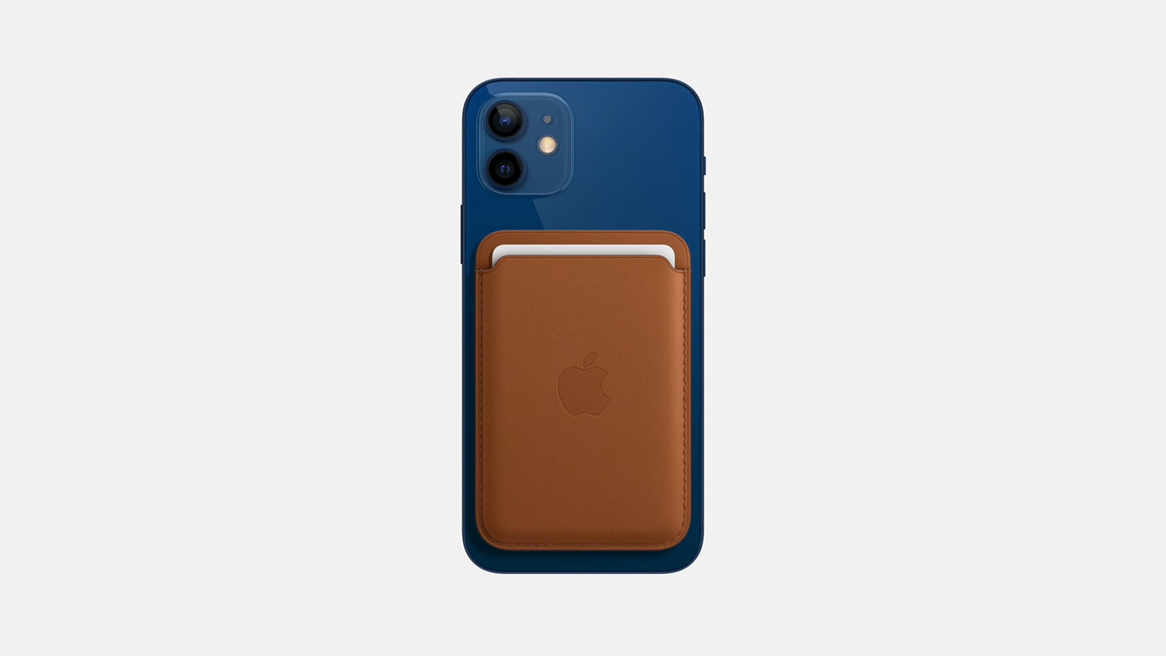 iPhone12_blue_Leather wallet with MagSafe
