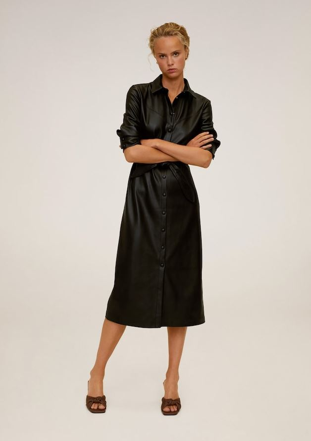 В стиле Хейли Бибер: выбираем кожаное платье на осень