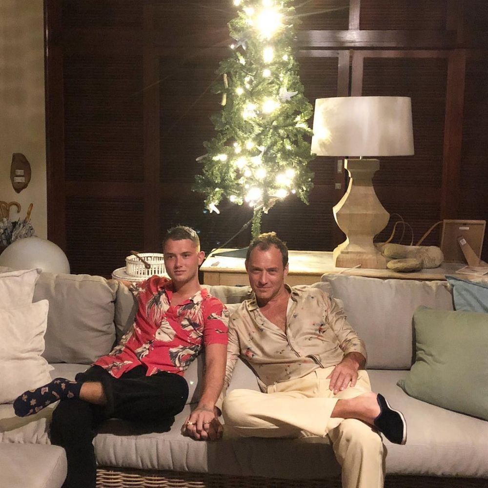 Джуд Лоу с сыном Рафферти (Фото: @rafflaw)
