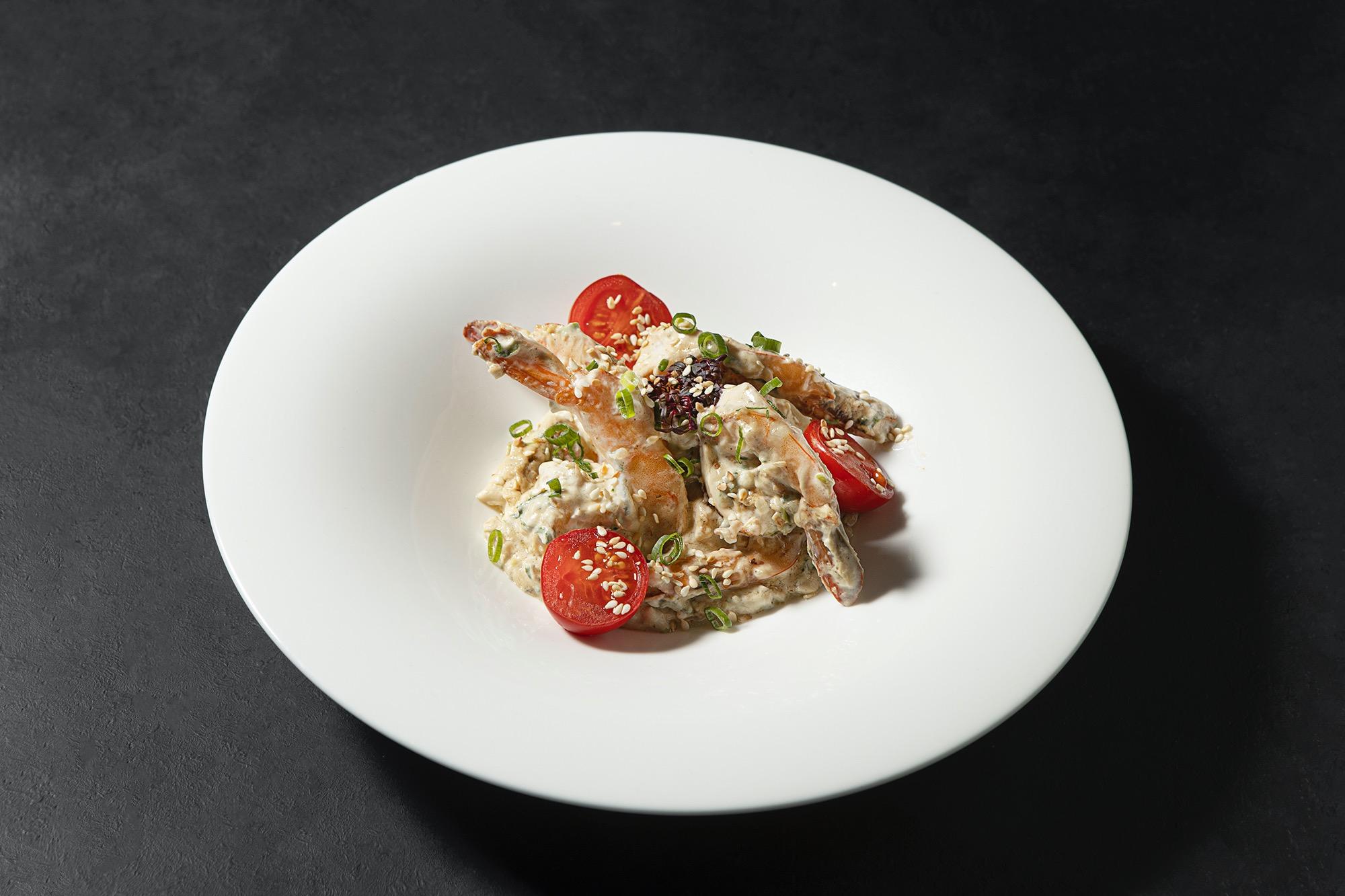 Креветки в соусе Бурсен