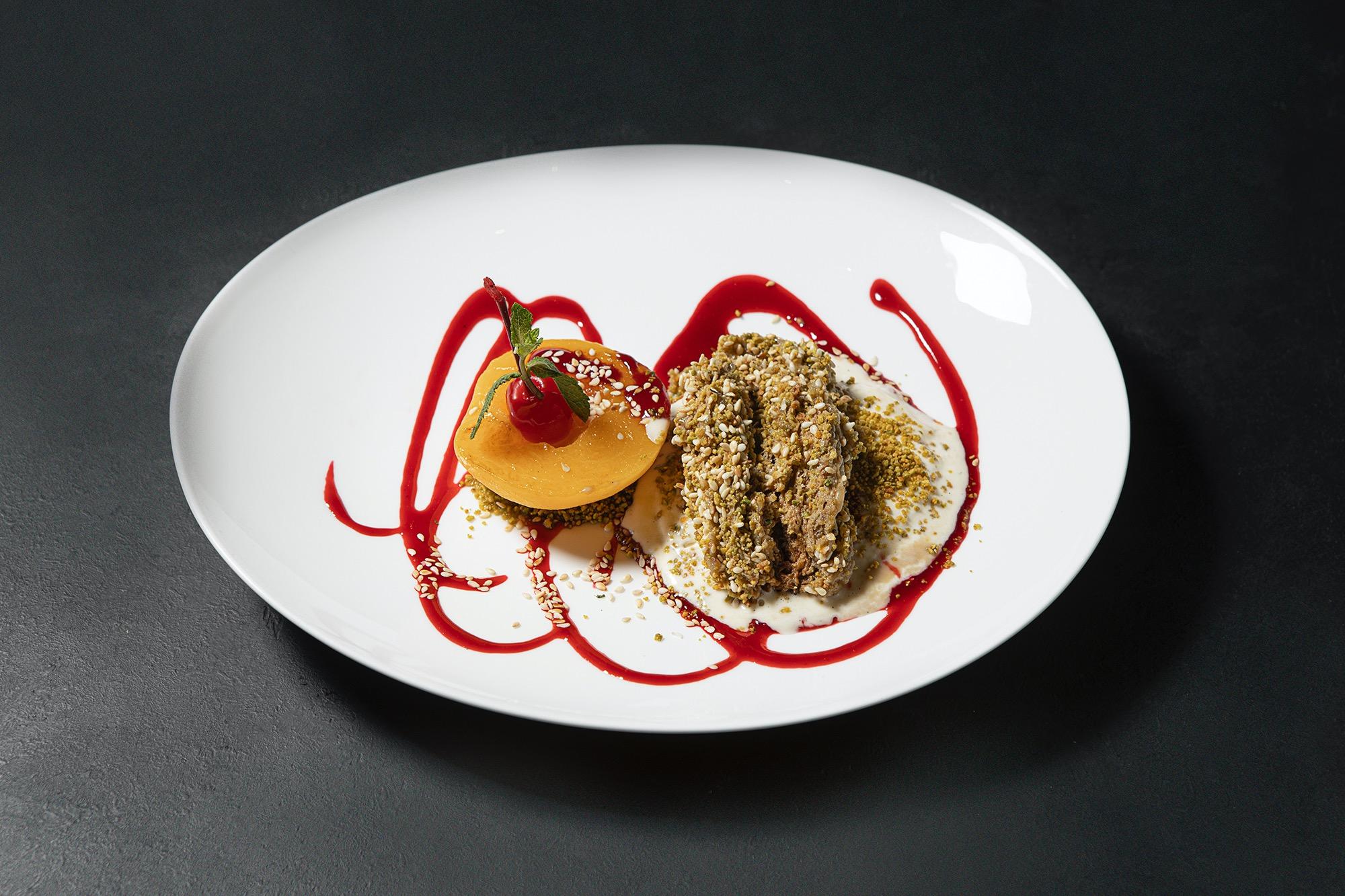 Персиковый фламбе