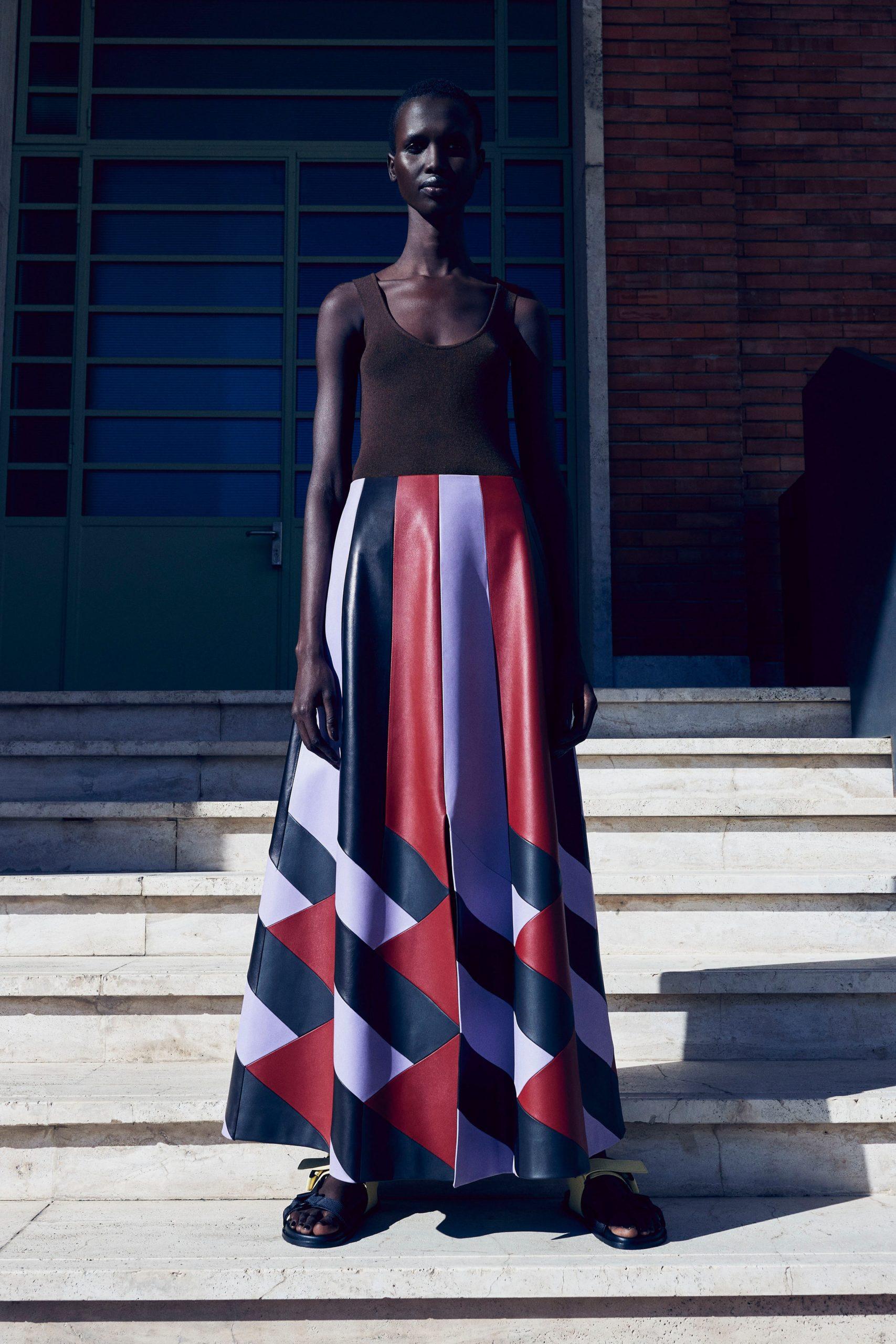 Цветная кожа в новой коллекции Salvatore Ferragamo