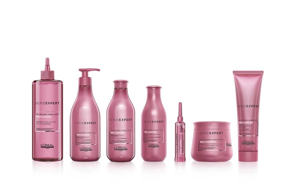 Новая ухаживающая гамма для длинных волос для поддержания качества и густоты волос L'Oreal Professionnel Serie Expert Pro Longer, в которой есть все для питания и блеска: шампунь, кондиционер, маска, концентрат.