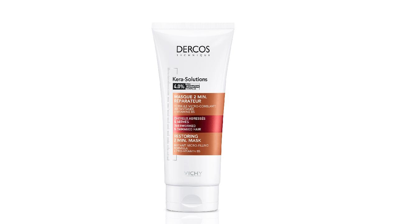Реконструирующая поверхность волоса экспресс-маска с комплексом про-кератин Dercos