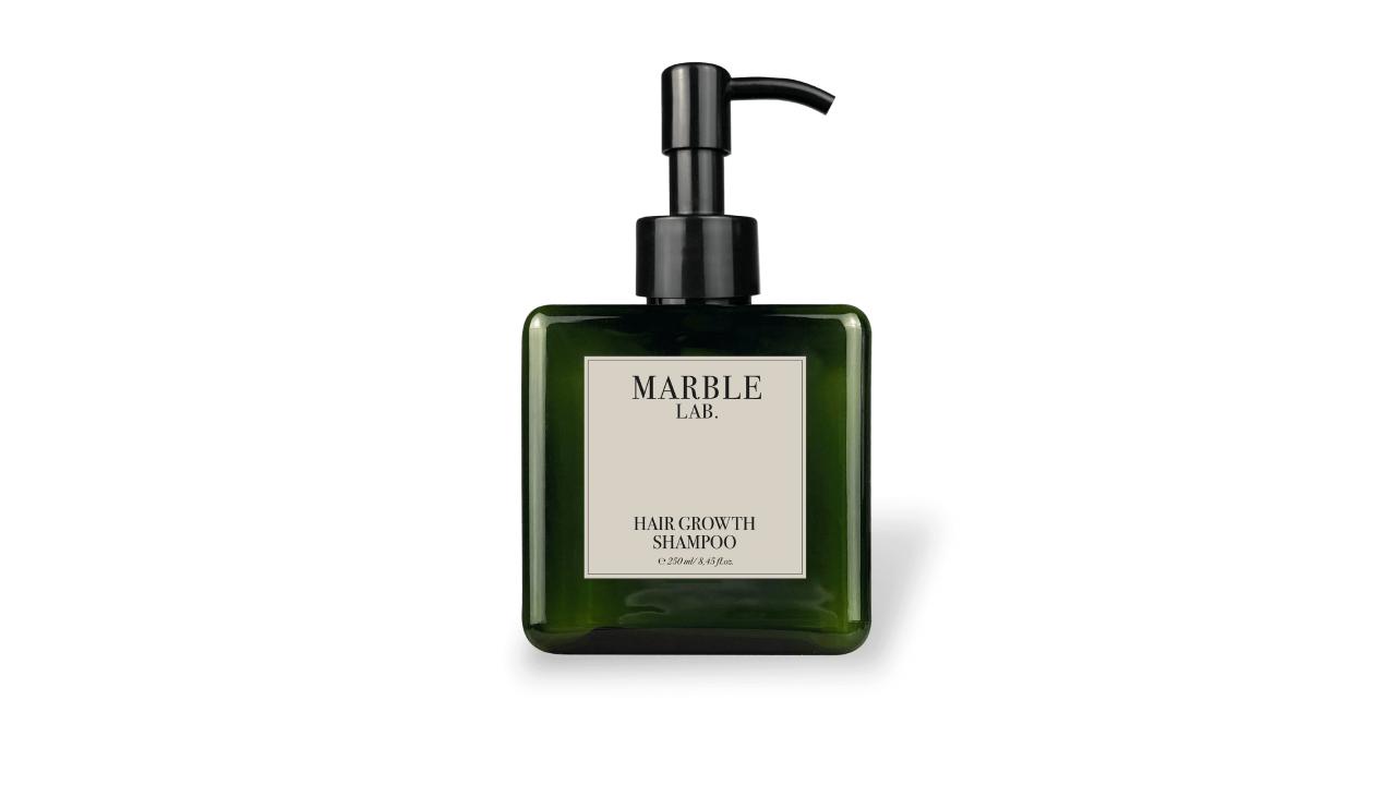 Шампунь против выпадения и для роста волос Marble Lab