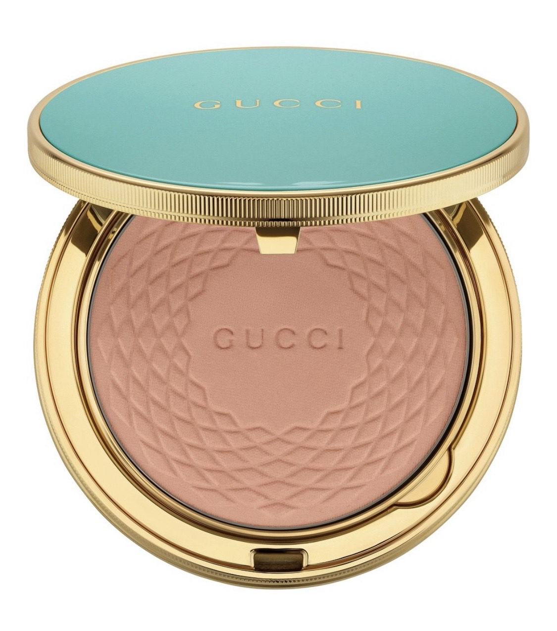 Бронзирующая пудра Gucci Poudre De Beaute Eclat Soleil, 1 с маслом ши и гиалуроновой кислотой, 4 200 р. Пудра питает и увлажняет кожу, придавая ей теплое сияние.