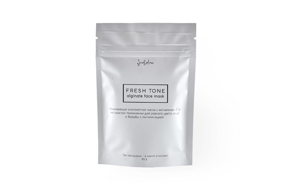 Альгинатная маска Fresh Tone с витамином С и экстрактом толокнянки Fresh Tone SmoRodina
