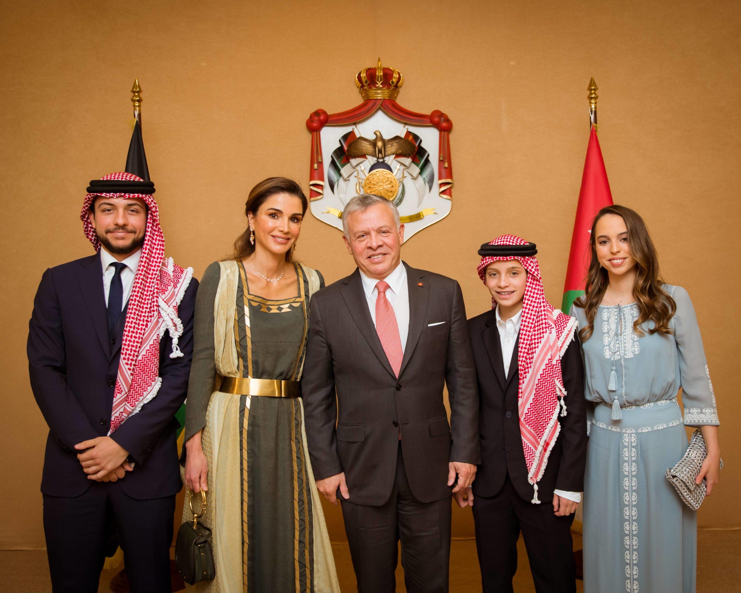 Принц Хуссейн, Королева Рания, Король Абдулла II, принц Хашем и принцесса Сальма. Фото: legion-media.ru