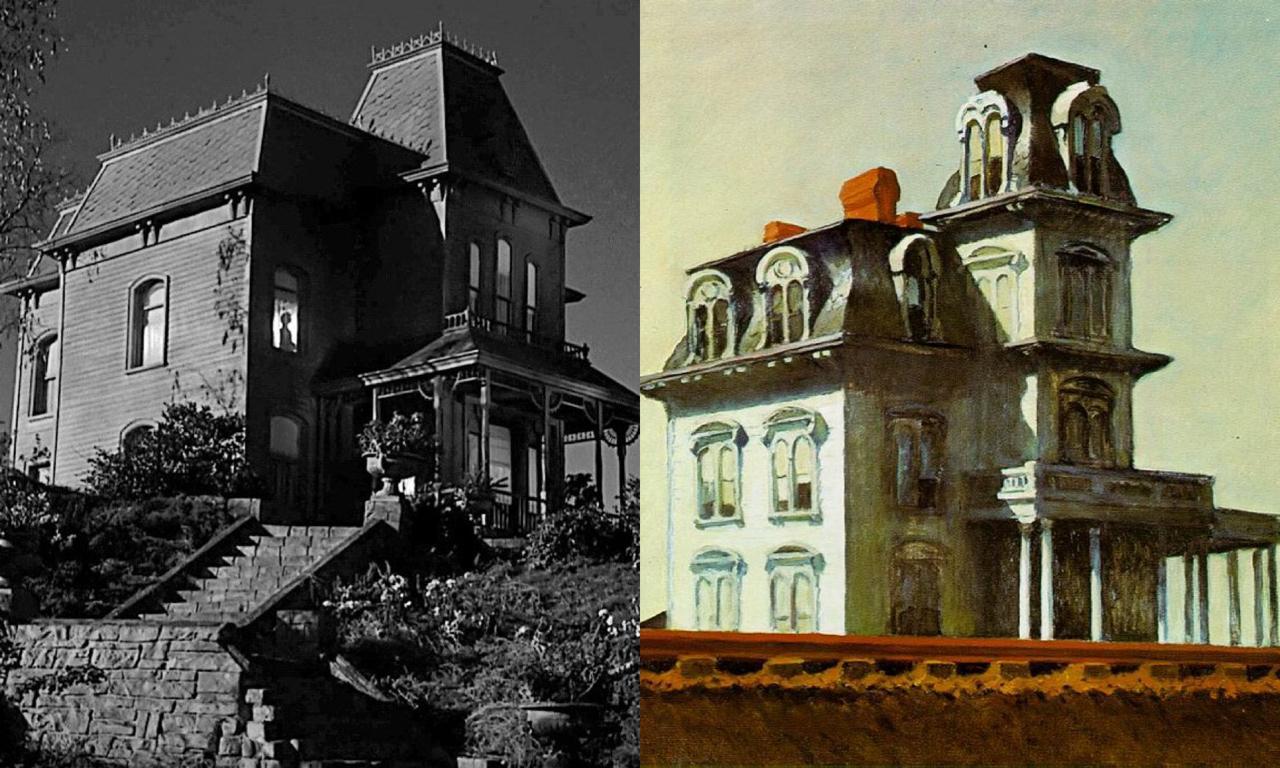 Дом Лилы Крейн из «Психо» - «Дом у железной дороги» Эдварда Хоппера