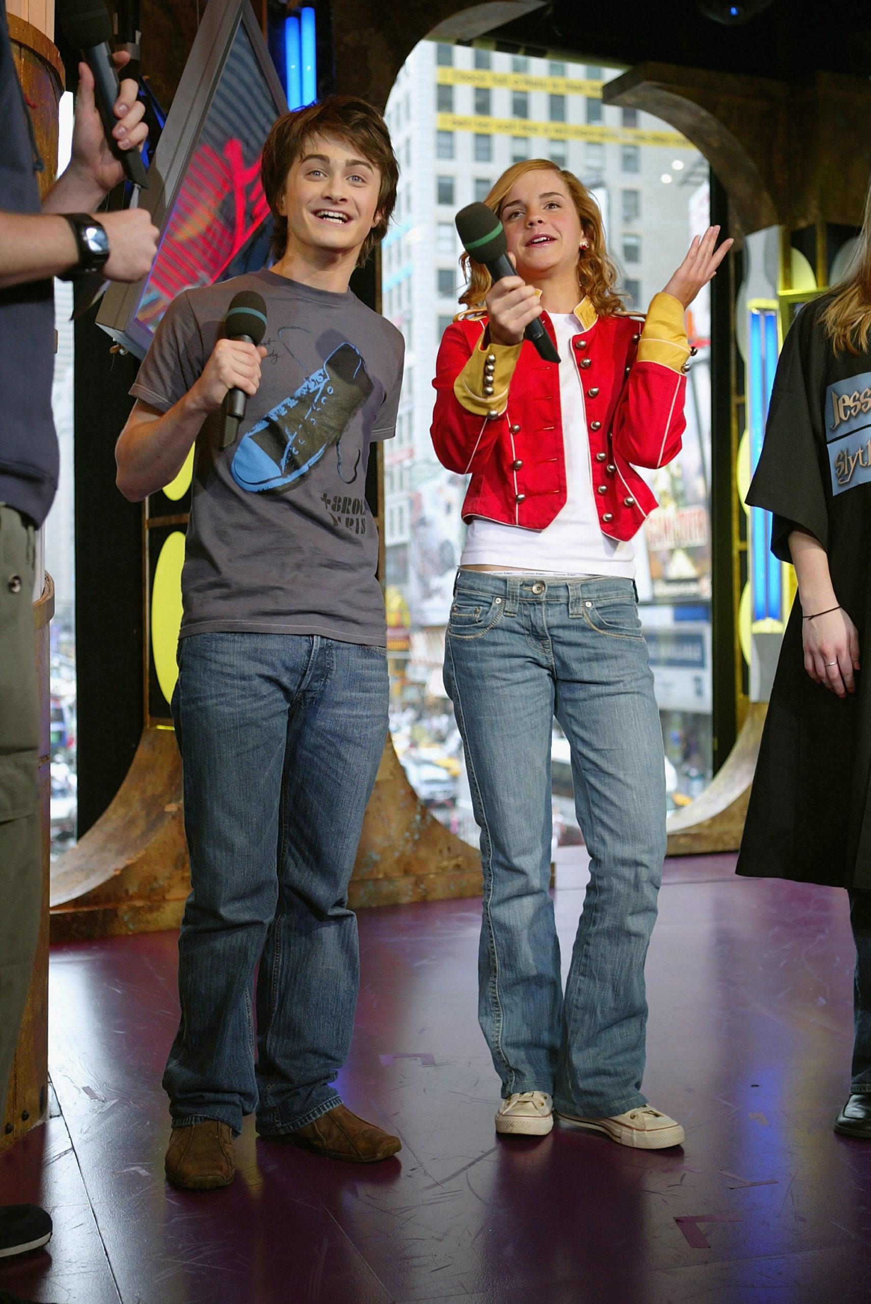 Дэниел Рэдклифф и Эмма Уотсон (2004). Фото: Scott Gries/Getty Images