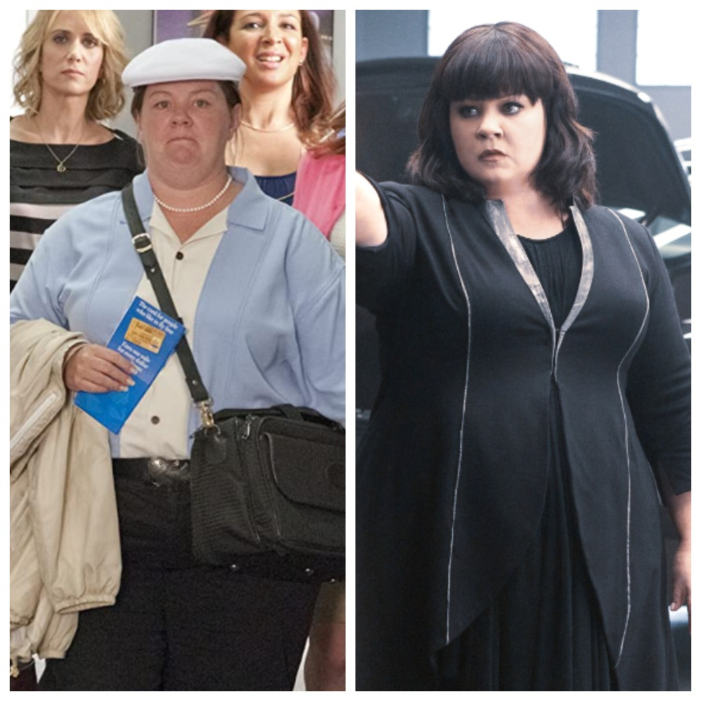 Мелисса Маккарти в «Девичнике в Вегасе» и в «Шпионе 2»