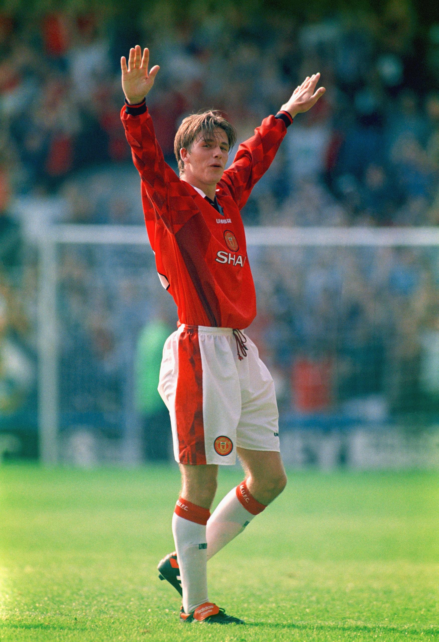 Дэвид Бекхэм, 1996. Фото: Michael Cooper/Allsport/Getty Images