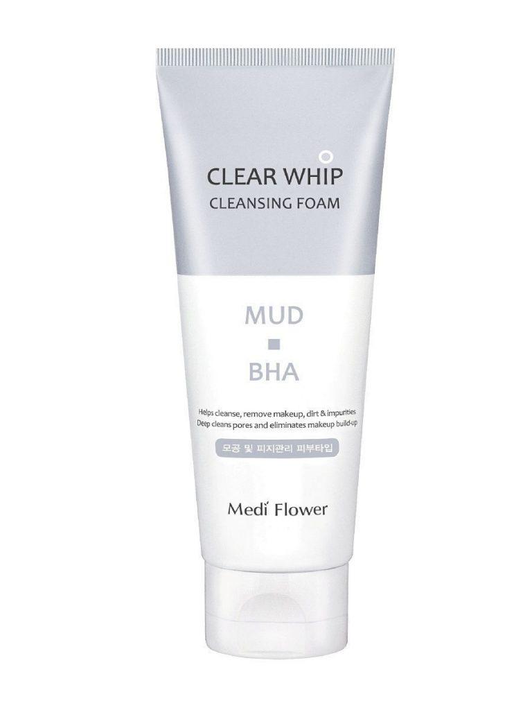 Clear Whip Cleansing Foam Mud BHA, Medi Flower